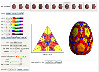 Screen shot of Pysanky Notebook interface